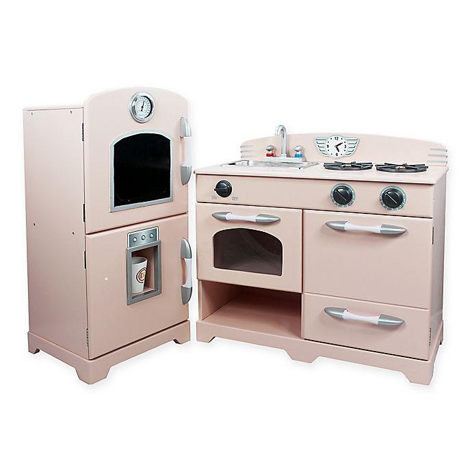 Teamson Kids 2-Piece Wooden Play Kitchen Set in Pink ...