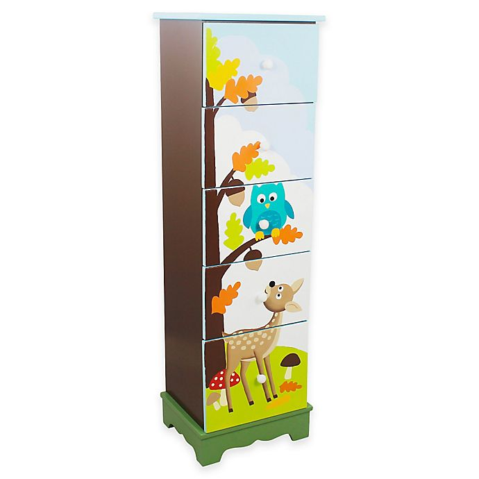 Alternate image 1 for Teamson Fantasy Fields Enchanted Woodland 5-Drawer Chest
