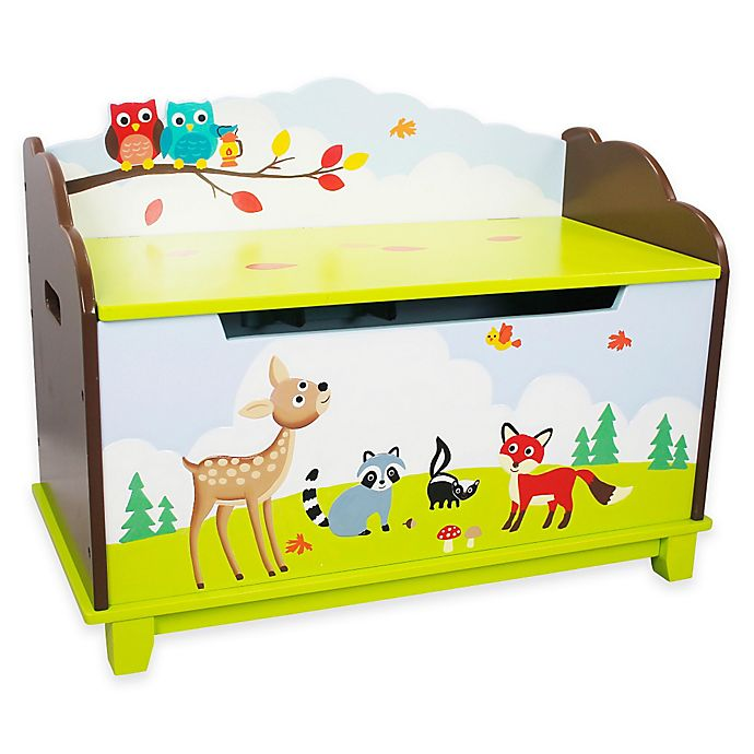Alternate image 1 for Teamson Fantasy Fields Enchanted Woodland Toy Storage Box