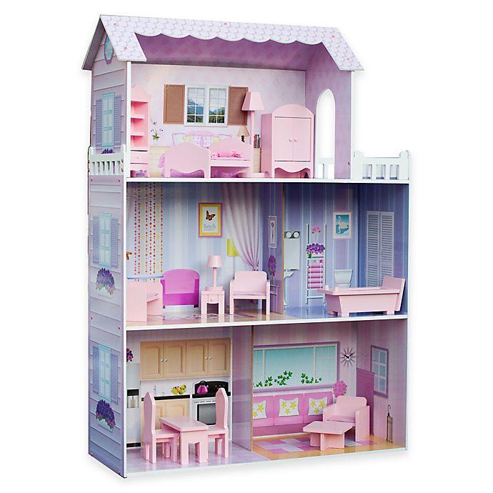 Alternate image 1 for Teamson Kids Fancy Mansion Folding Doll House