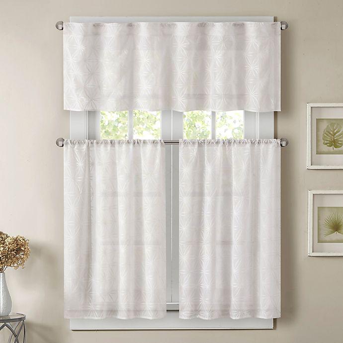 Alternate image 1 for Madison Park Gemma 36-Inch Sheer Window Curtain Tier Pair