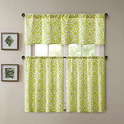 Madison Park Delray Printed Diamond Window Curtain Panel and Valance
