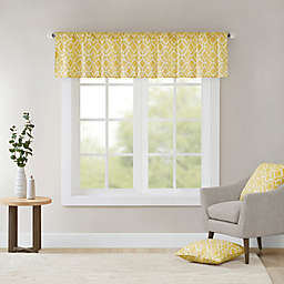 Madison Park Delray Printed Diamond Valance in Yellow
