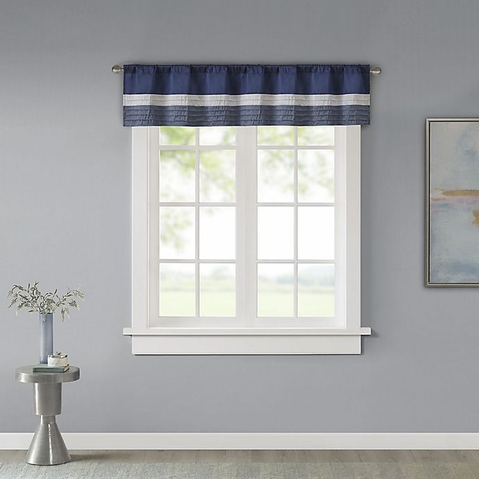Alternate image 1 for Madison Park Amherst Window Valance in Navy