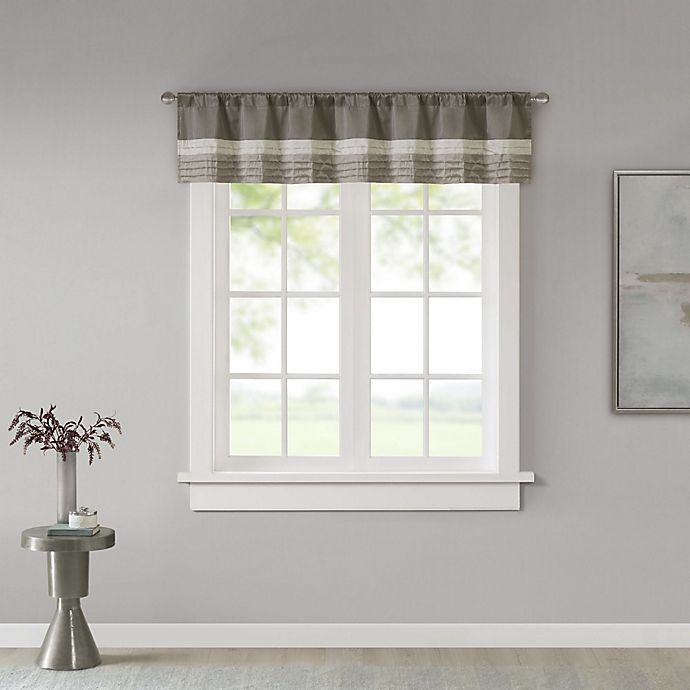Alternate image 1 for Madison Park Amherst Window Valance in Natural