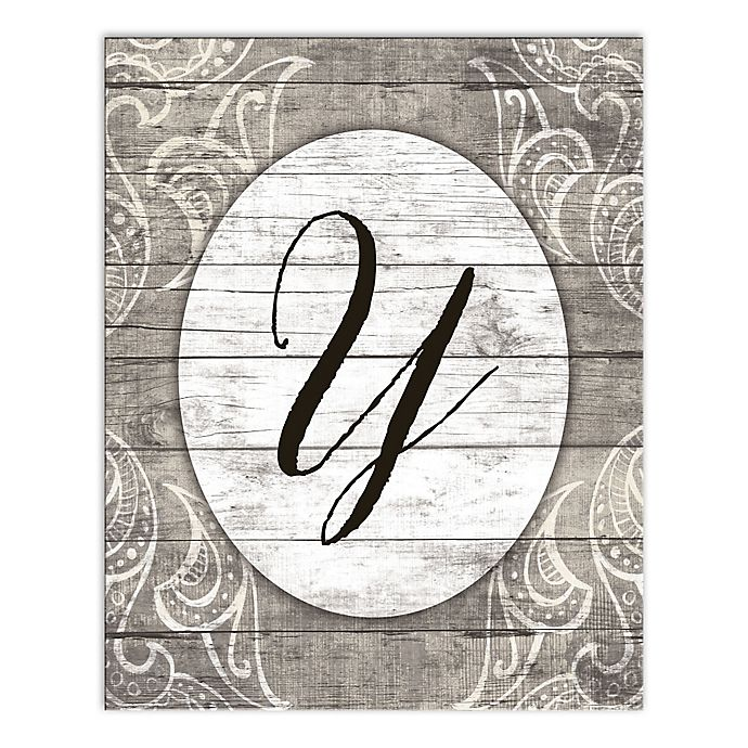 Alternate image 1 for Happily Ever Greige Letter Canvas Wall Art