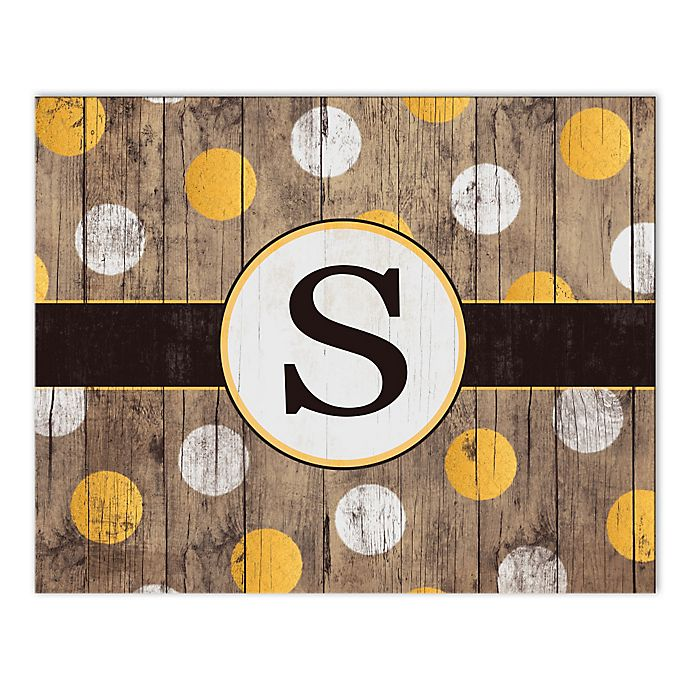 Alternate image 1 for White And Gold Wood Letter Canvas Wall Art