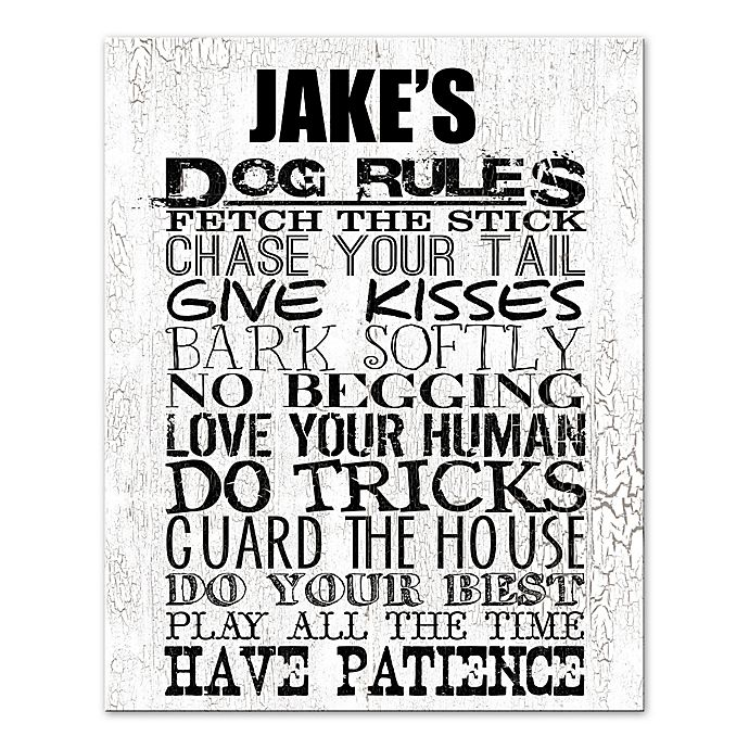 Alternate image 1 for Dog Rules Canvas Wall Art
