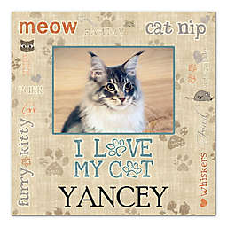 "Pied Piper Creative ""I Love My Cat"" Canvas Wall Art"