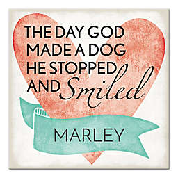 Pied Piper Creative Dog and Smile Canvas Wall Art