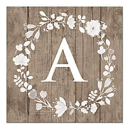 Floral Letter Canvas Wall Art