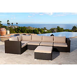Abbyson Living® Newport 6-Piece Outdoor Sectional in Espresso