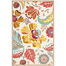 Safavieh Four Seasons 2-Foot 6-Inch x 4-Foot Accent Rug in Ivory/Grey