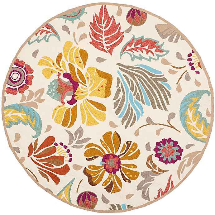 Alternate image 1 for Safavieh Four Seasons 6-Foot Round Area Rug in Ivory/Grey