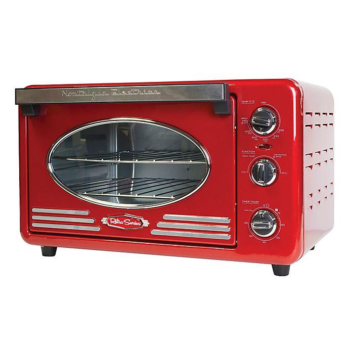 Alternate image 1 for Nostalgia™ Electrics Retro Toaster Oven in Red