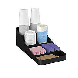 Mind Reader 7-Compartment Coffee Condiment Organizer in Black