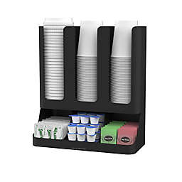 Mind Reader 6-Compartment Coffee Condiment Organizer in Black