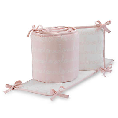 Lambs & Ivy® Sweetheart 4-Piece Crib Bumper in Pink/White