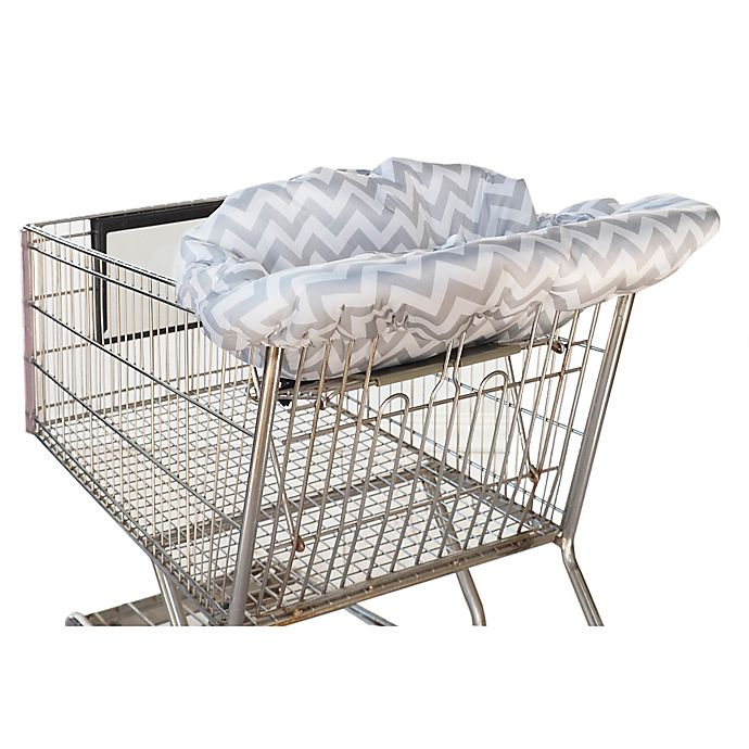 Alternate image 1 for Itzy Ritzy® Ritzy Sitzy™ Shopping Cart and High Chair Cover in Grey Chevron
