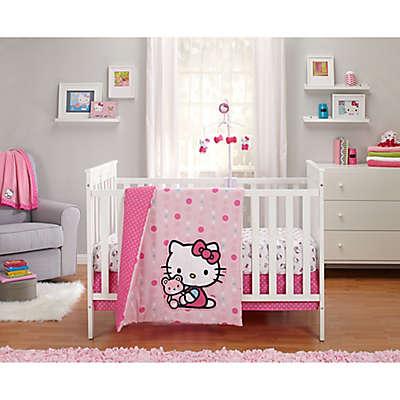 Hello Kitty® Cute as a Button Crib Bedding