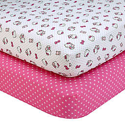 Hello Kitty® Cute as a Button 2-Pack Fitted Crib Sheets