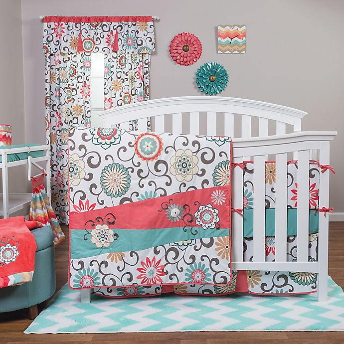 Alternate image 1 for Waverly® Baby by Trend Lab® Pom Pom Play Crib Bedding Collection
