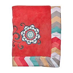 Waverly® Baby by Trend Lab® Pom Pom Play Coral Fleece Blanket
