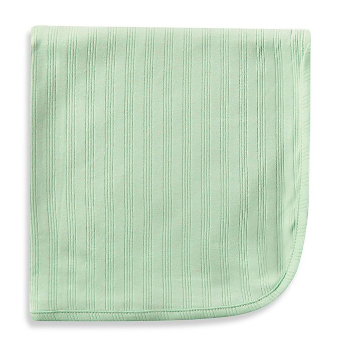Alternate image 1 for BabyVision® Touched by Nature Organic Cotton Blanket in Green