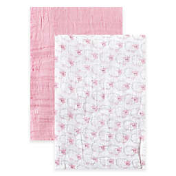BabyVision® Hudson Baby® 2-Pack Sheep Muslin Swaddle Blankets in Pink