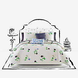 kate spade new york Willow Court Duvet Cover Set in Platinum