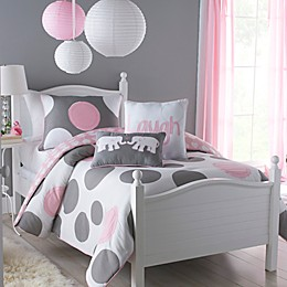 VCNY Pink Parade Reversible Comforter Set in Pink/Grey