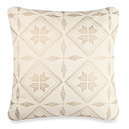 Anthology™ Mina Box Pleat Throw Pillow in Gold