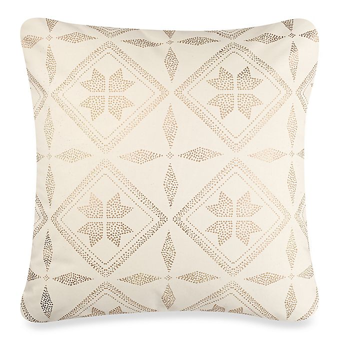 Alternate image 1 for Anthology™ Mina Box Pleat Throw Pillow in Gold