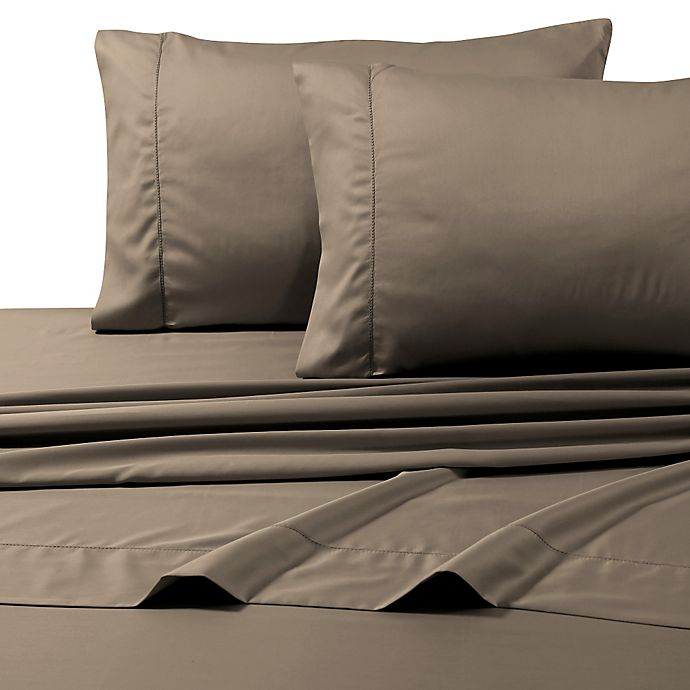 Alternate image 1 for 800-Thread-Count Deep Pocket King Sheet Set in Taupe