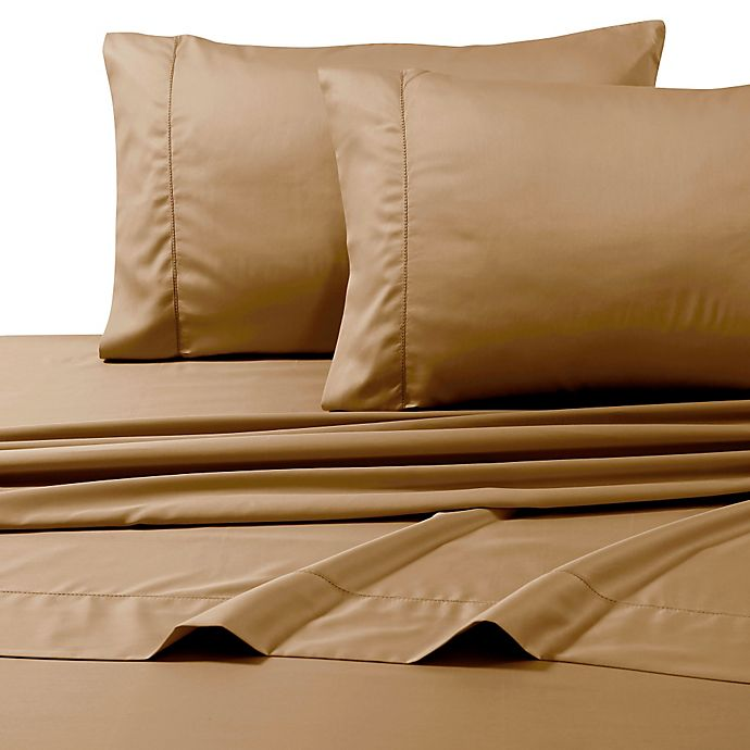 Alternate image 1 for 800-Thread-Count Deep Pocket Queen Sheet Set in Cafe