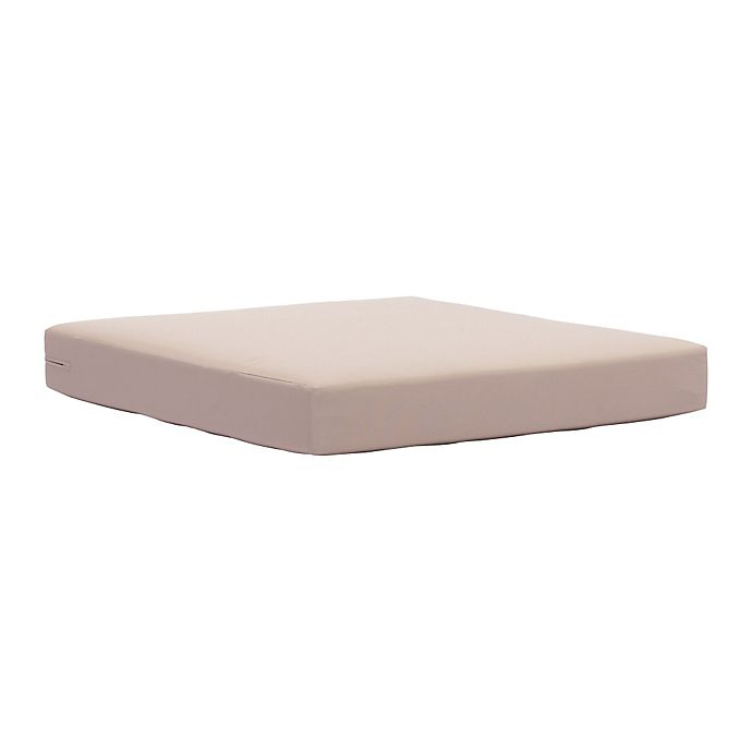 Alternate image 1 for Zuo® Outdoor Glass Beach Seat Cushion in Taupe