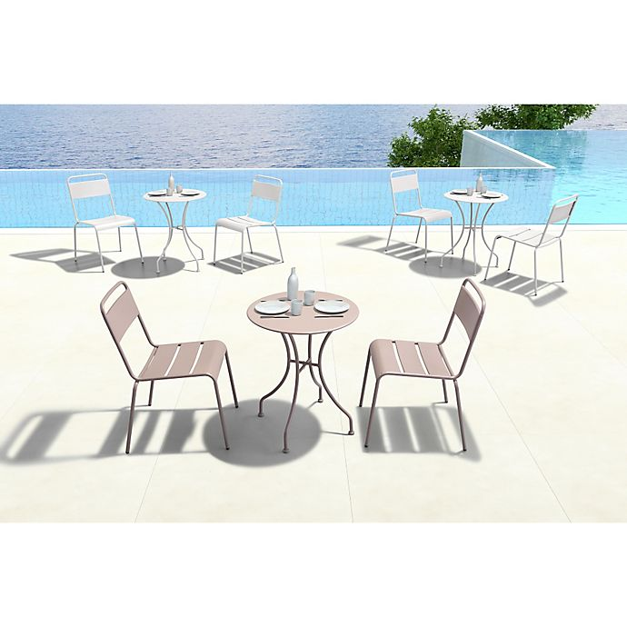 Alternate image 1 for Zuo® Oz Round Outdoor Dining Table