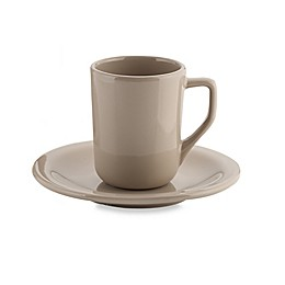 Real Simple® Espresso Cup and Saucer in Taupe
