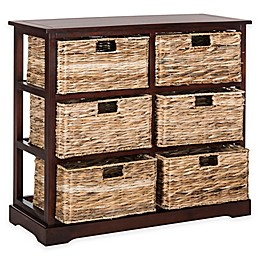 Safavieh Keenan 6-Wicker-Basket Storage Chests