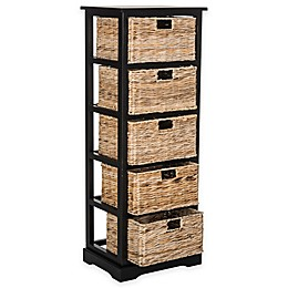 Safavieh Vedette 5-Wicker-Basket Storage Chests
