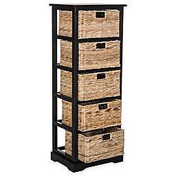 Safavieh Vedette 5-Wicker-Basket Storage Chests