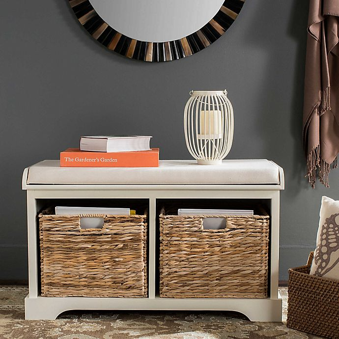 Safavieh Freddy Wicker Storage Bench Bed Bath Amp Beyond