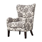 Madison Park Arianna Swoop Wing Chair in White/Grey