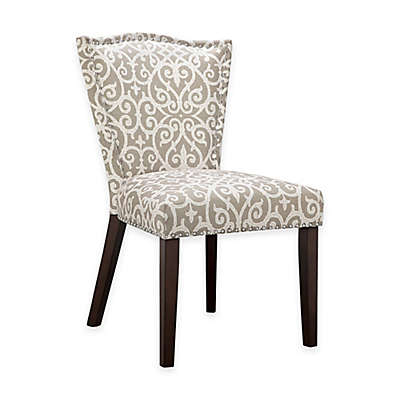 Madison Park Nate Dining Chairs in Grey/White (Set of 2)