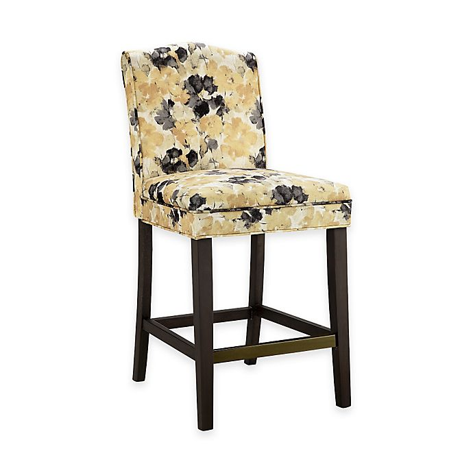 Madison Park Camel Counter Stool In Yellow Multi Bed