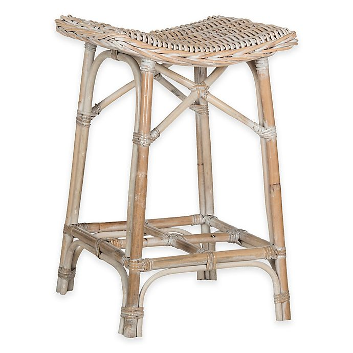 Stupendous Safavieh Rayna Wicker Bar Stool Bed Bath Beyond Squirreltailoven Fun Painted Chair Ideas Images Squirreltailovenorg