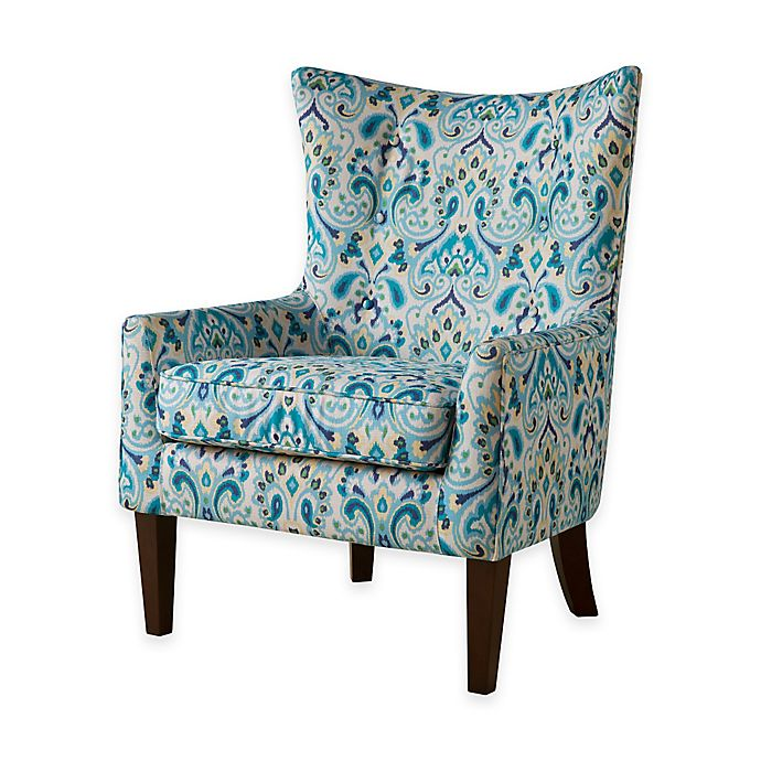 Alternate image 1 for Madison Park Carissa Shelter Wing Chair in Blue/Yellow