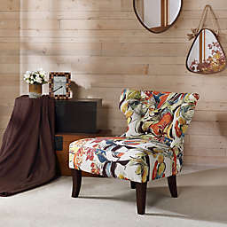 Madison Park Erika Hourglass Tufted Armless Accent Chair
