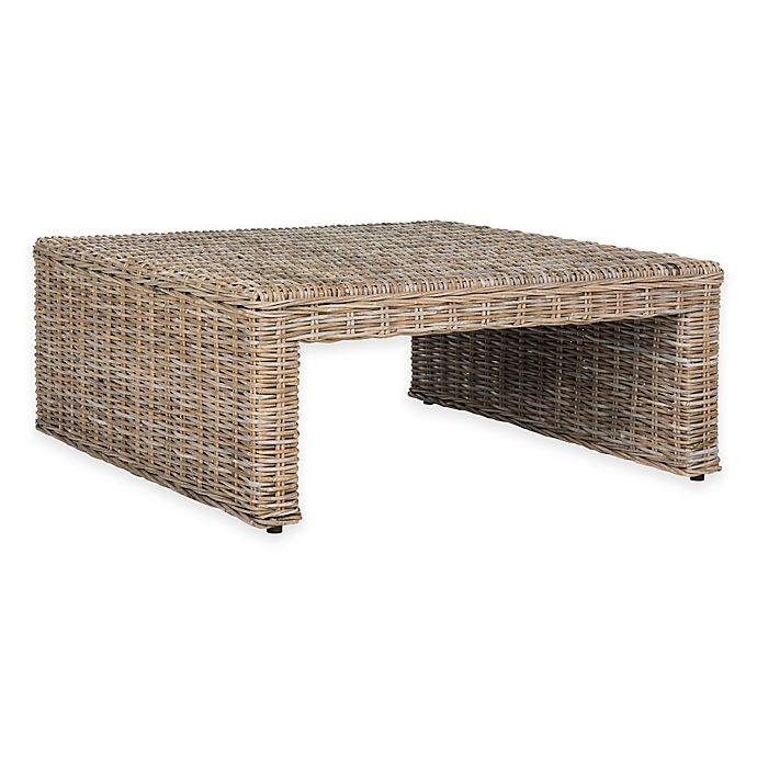 Superb Safavieh Persis Wicker Coffee Table Bed Bath Beyond Ibusinesslaw Wood Chair Design Ideas Ibusinesslaworg