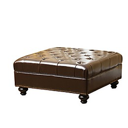 Abbyson Living® Soho Ottoman in Brown